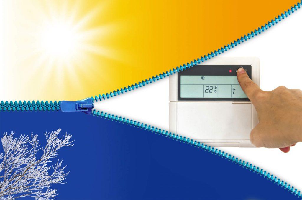 Úsporné vykurovanie klimatizáciou